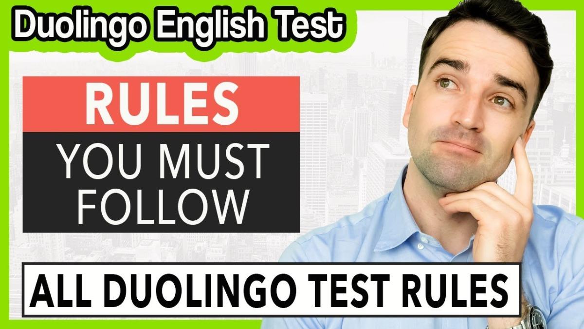 Duolingo English Test rules to follow